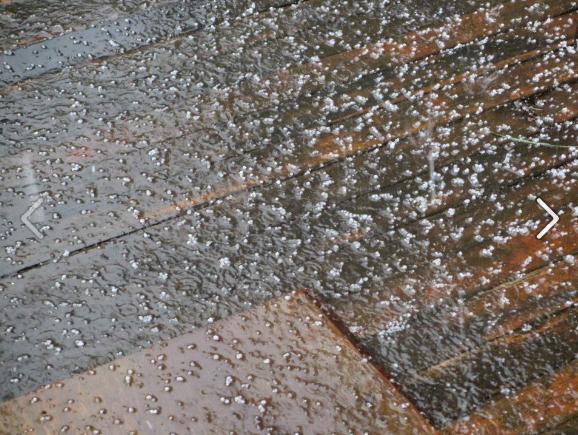 2012 Jun 23 small hail at 1 PM